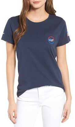 Women's Vineyard Vines Usa All Day Graphic Pocket Tee $49.50 thestylecure.com