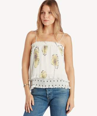 Sole Society Mixed Print Pleated Cami