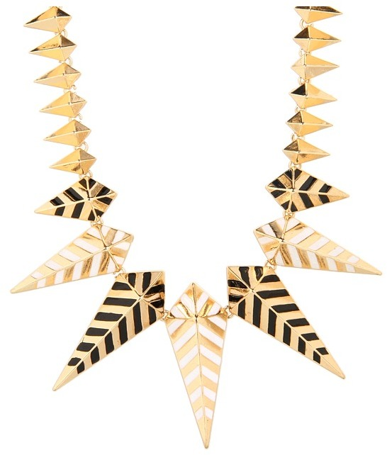 Noir Jewelry - Enamel Spike Necklace
