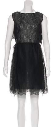 Valentino Bow-Accented Lace Dress