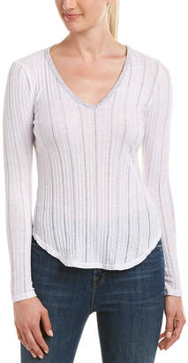 Three Dots Dropped Needle Ribbed Top