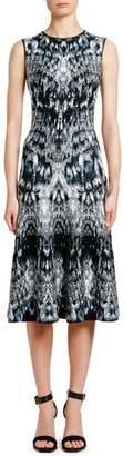 Alexander McQueen Sleeveless English-Crystal Jacquard Cocktail Dress