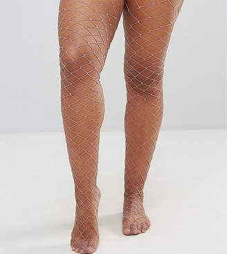 Asos Oversized Fishnet Tights in Mauve