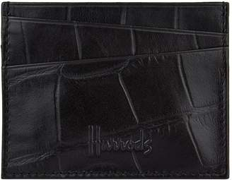 Harrods Crocodile Embossed Leather Cardholder
