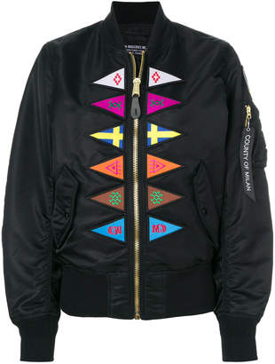 Marcelo Burlon County of Milan Flags Alpha MA-1 bomber jacket