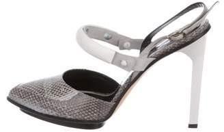 Jason Wu Snakeskin Ankle Strap Pumps