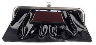 Marni Pleated Frame Clutch