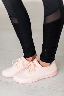 Static Sneakers - Light Pink $39.99 thestylecure.com