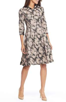 Gal Meets Glam Lucy Golden Carnation Button Front Dress