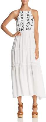 En Creme Embroidered Tiered Midi Dress - 100% Exclusive