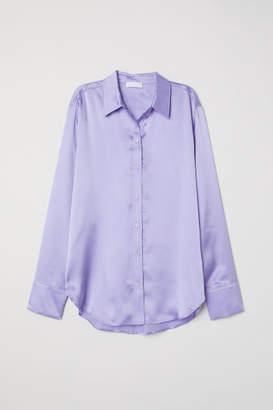 H&M Silk Blouse - Purple