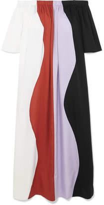 Mara Hoffman Sala Off-the-shoulder Striped Voile Dress - White