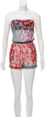 Missoni Mare Strapless Patterned Romper