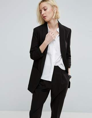 ASOS Mix & Match Blazer with Rouched Sleeve $64 thestylecure.com