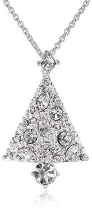 -Plated Crystal Tree Pendant Necklace