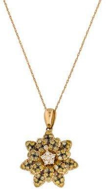 Le Vian 14K Yellow Diamond Flower Pendant Necklace $1,095 thestylecure.com