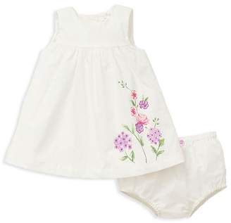Offspring Girls' Floral-Print Dress & Bloomers Set - Baby