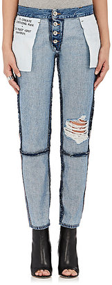Ben Taverniti Unravel Project Women's Inside-Out Crop Jeans $975 thestylecure.com