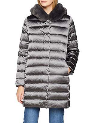 Geox Women's W CHLOO Quilted Long Sleeve Parka,(Manufacturer Size: 54)
