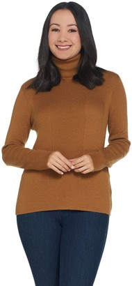 Lisa Rinna Collection Ribbed Turtleneck Sweater