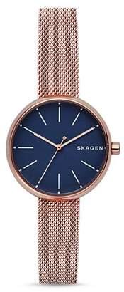 Skagen Signatur Mesh Bracelet Watch, 30mm