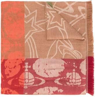Vivienne Westwood Graffiti orb print scarf