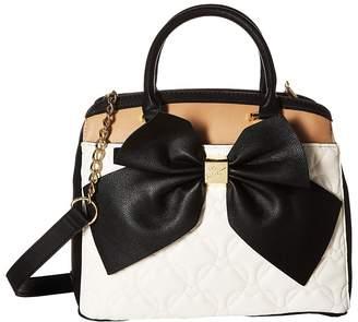 Betsey Johnson Belted Bow Satchel Satchel Handbags