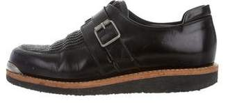 Balmain Round-Toe Monk Strap Shoes
