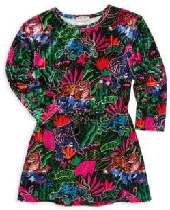 Kenzo Little Girl's & Girl's Velvet Jungle Print Dress