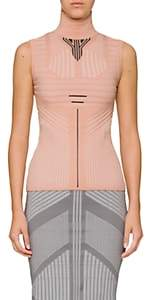 Prada Women's Geometric-Pattern Turtleneck Top-Light, Pastel pink