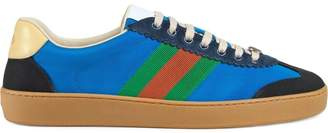 Gucci G74 nylon sneaker with Web