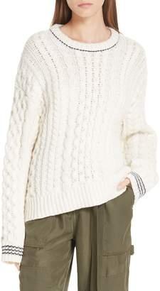 Rag & Bone Brighton Lambswool Aran Sweater
