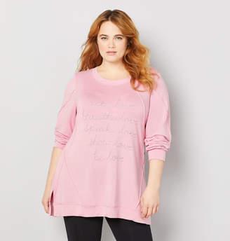 Avenue Lurex Love Seamed Sweatshirt
