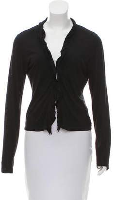 Burberry Ruffled V-Neck Cardigan
