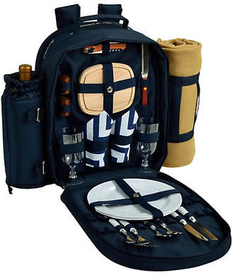 One Kings Lane Picnic Backpack Cooler for Two - Navy