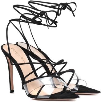 Gianvito Rossi Medea 105 suede sandals
