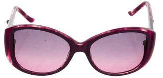 Judith Leiber Embellished Square Sunglasses