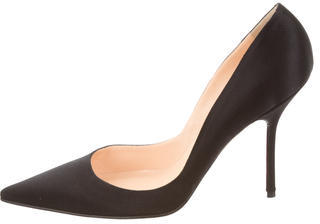 Christian Louboutin  Christian Louboutin Satin Pointed-Toe Pumps