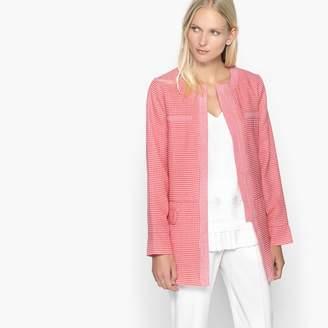Anne Weyburn Long Cotton Jacquard Blazer