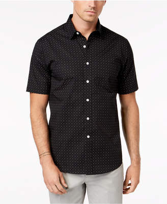Club Room Men's Porter Dot-Print Shirt, Created for Macy's