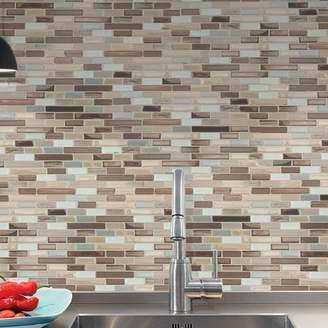 Durango Smart Tiles Mosaik Muretto 10.20 x 9.10 Peel & Stick Wall Tile in Beige, Gray & Silver