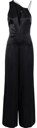 Cushnie et Ochs Valetta Asymmetric Silk-Satin Jumpsuit