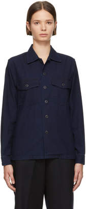 Blue Blue Japan Indigo Aging Utility Shirt