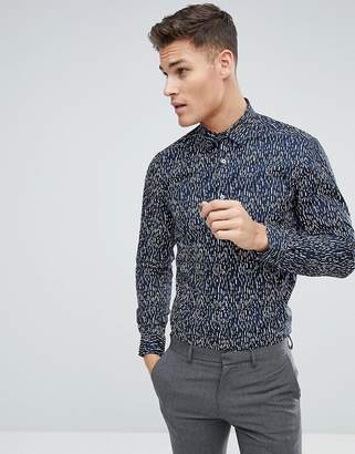 French Connection Geo Dash Print Slim Fit Shirt