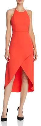 Alice + Olivia Kristy High/Low Halter Dress