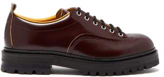 Marni Chunky Sole Leather Derby Shoes - Mens - Brown