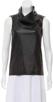 Celine Sleeveless Vegan Leather Top