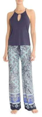 In Bloom Blue Eyed Grass Cami Pant Set