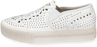 Ash Kingston Perforated Leather Platform Skate Sneakers