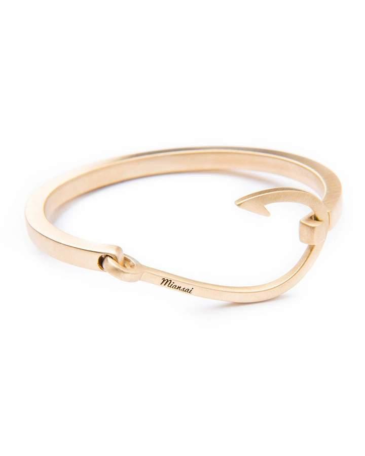 Miansai Hook Cuff Bracelet, Brass